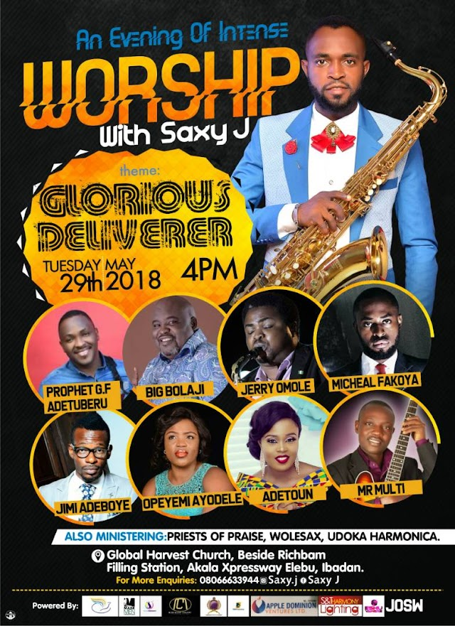 Event : Glorious Deliverer  - An evening of Worship With Saxy J