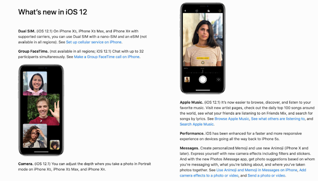 أبل تقوم بنشر دليل مستخدم iOS 12.1 الكامل