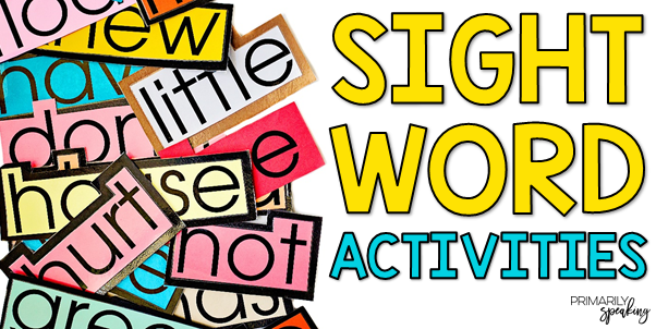 Engaging Ways to Practice Sight Words