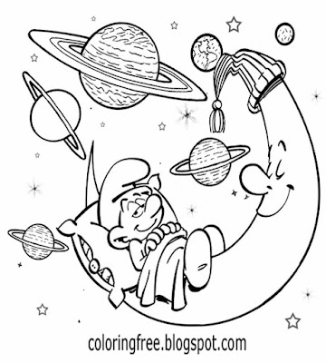 Simple drawing suggestions Smurfs clipart snoozing Dreamy Smurf cartoon man in the moon night sky