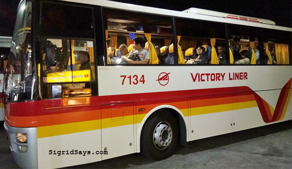 Baguio City - DIY family trip - Victory LIner