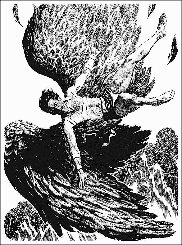 a Virgil Finlay illustration, Icharus