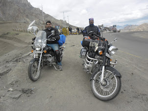 "Two Bikers doing the ""Delhi-Srinar-Leh-Manali-Delhi""  highway route on their Bikes."