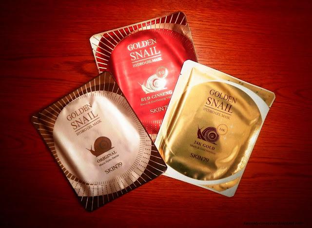 Ślimakowe maski hydrożelowe marki SKIN79 - Golden Snail