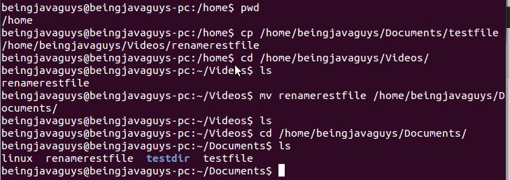 Basic Linux(ubuntu) terminal commands