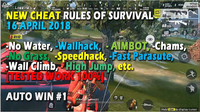 Cheat Rules of Survival Glutamin 6.0 Update 16 April 2018 Aimbot, Wallhack, Speedhack, Fast Parasute