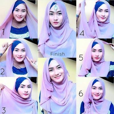 tutorial hijab glamour untuk pesta resepsi