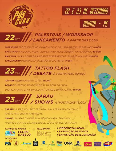 Cultura: Goiana recebe 2ª edição do Festival Multicultural Pós Cana