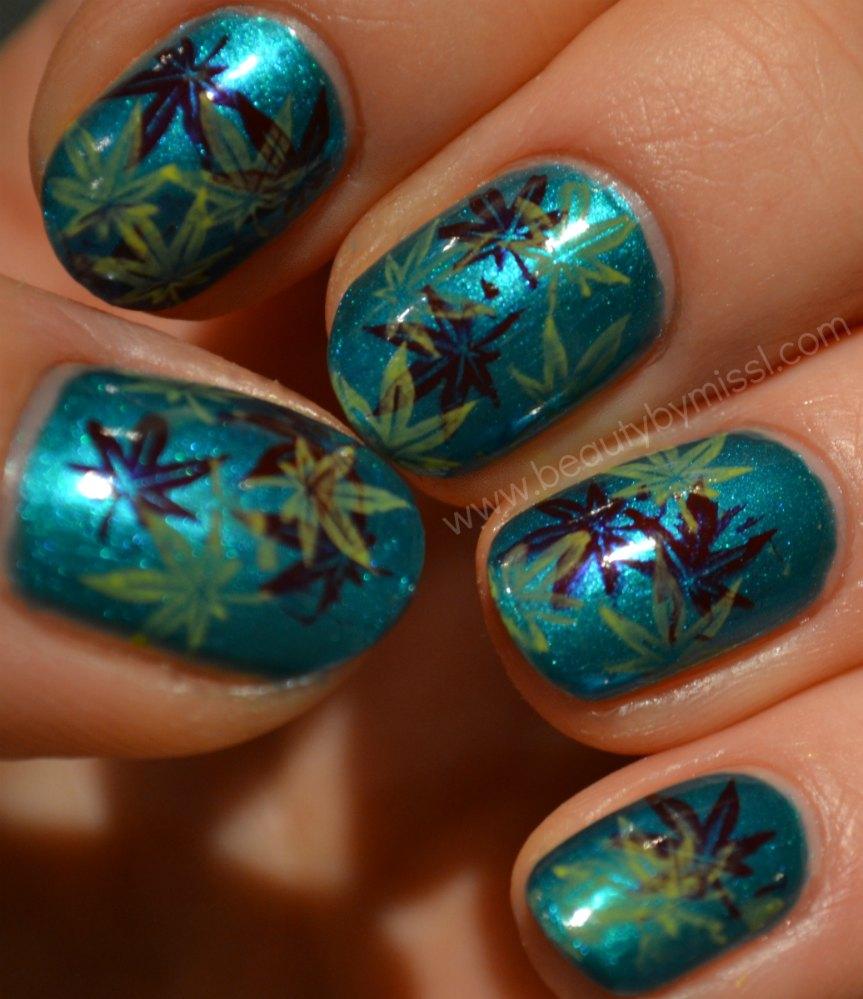nail art for nubbins, short nails, nail art stamping