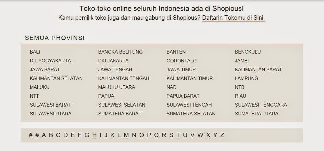 Daftar Toko Online Terpercaya di Shopious.com