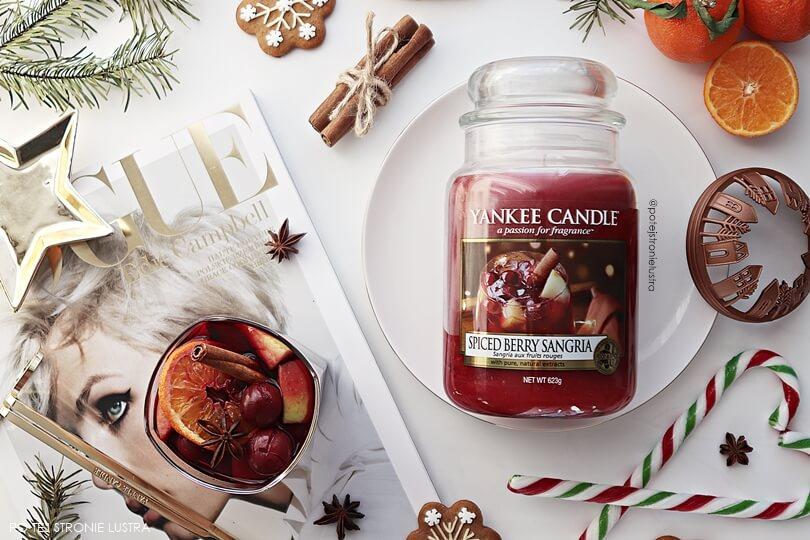 yankee candle spiced berry sangria duża świeca