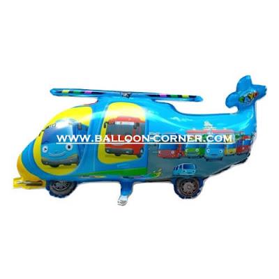 Balon Foil Karakter Helicopter Tayo (Biru)