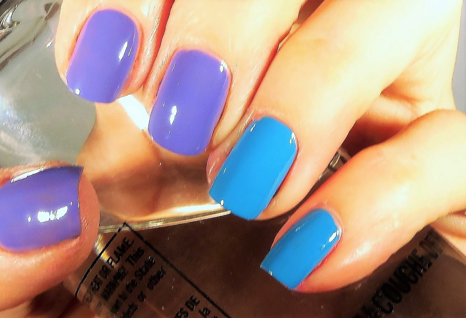 Abnorm Nail Behavior | Nail Art : Purple and Blue Ombre Double Stamp
