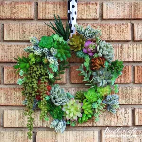 Faux Succulent Wreath Diy Arrangement