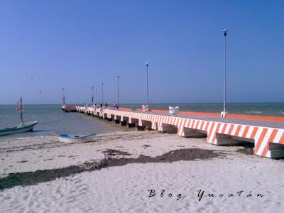 Muelle Telchac Puerto Yucatan