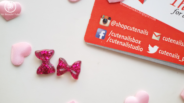 Pair Of Pink Bow Charms