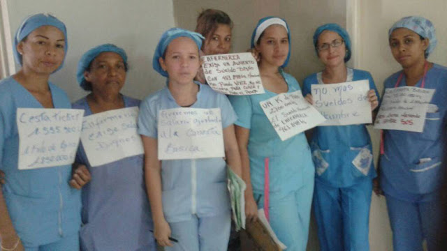 Enfermeras de Aragua exigen aumento de sueldo y que paguen en dólares