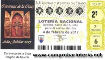 loteria nacional del sábado 4 de febrero de 2017