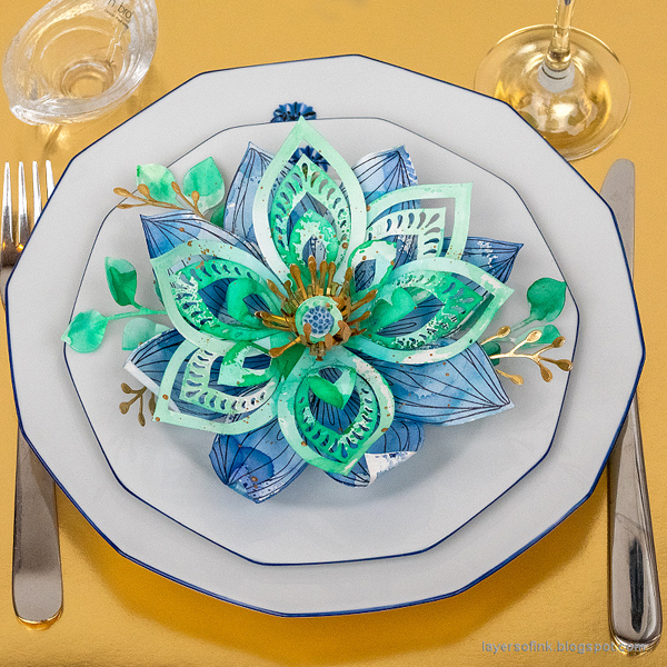 Layers of ink - New Year's Decorations: Intricate 3-D Flowers Tutorial by Anna-Karin Evaldsson.