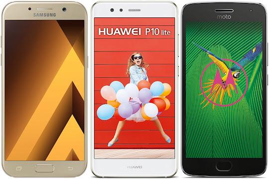 Samsung Galaxy A5 (2017) vs Huawei P10 Lite vs Motorola Moto G5 Plus