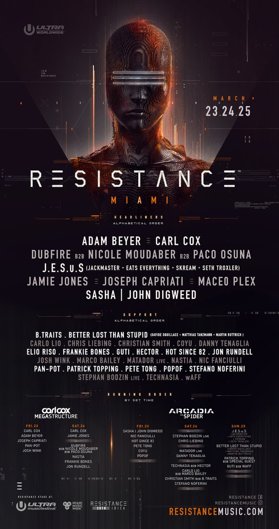RESISTANCE MIAMI LINEUP