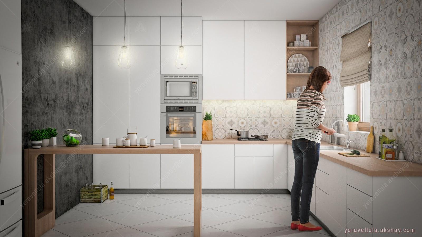 Akshay Yaravalli: Kitchen - Sleek Scandinavian Style