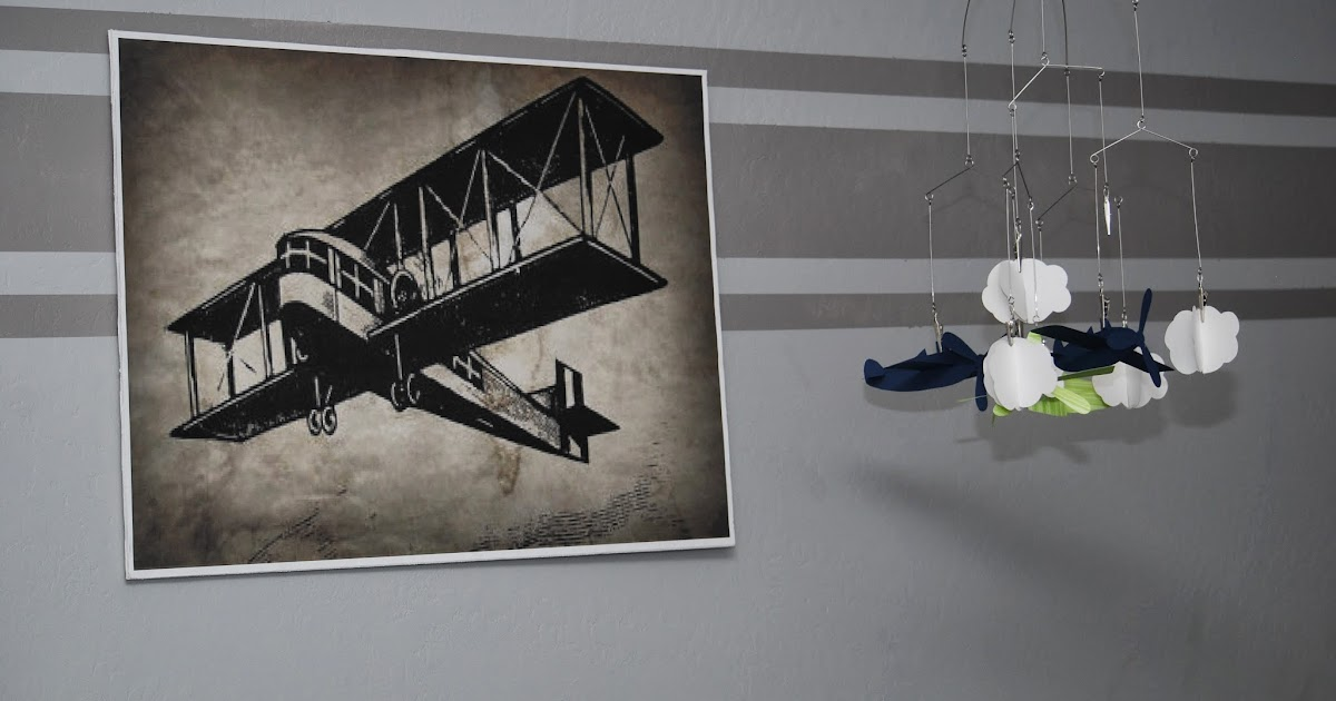 Mandy And Chris Vintage Airplane Nursery