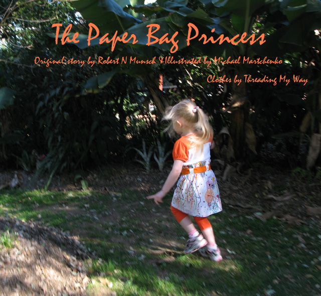 Outfit inspired by the book, The Paper Bag Princess ~ Threading My Way