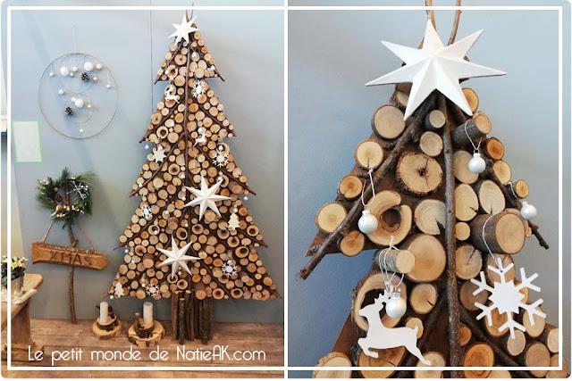 Arbre de Noël en rodin de  bois