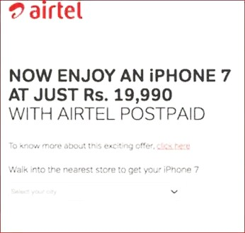 Reliance Jio vs Airtel: Free 4G Data With Apple iPhone 7 and iPhone