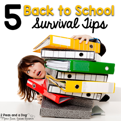 Quick ideas for making the back to school transition smooth for teachers and students from the 2 Peas and a Dog blog.