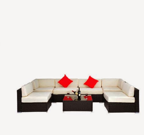Outsunny Deluxe Outdoor Sectional Furniture
