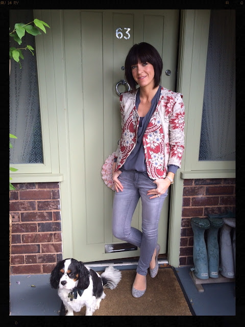 My Midlife Fashion, Quilted Biker Jacket, Draped Top, Skinny Jeans, Mango, ASOS, Zara, Sparkly shoes, ballet pumps