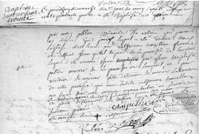 Baptême de Jean-Baptiste Pavé AD76