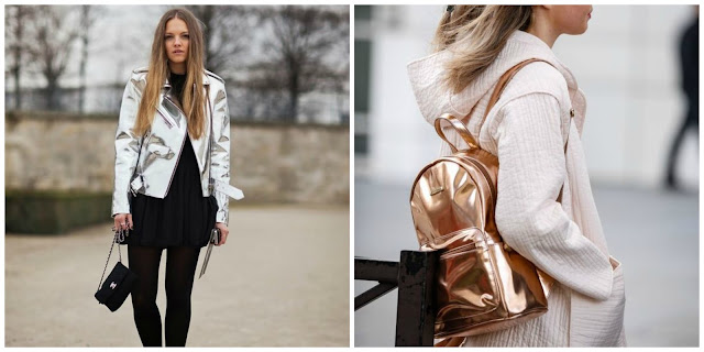 tendência roupas metalizadas