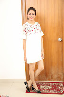 Lavanya Tripathi in Summer Style Spicy Short White Dress at her Interview  Exclusive 305.JPG