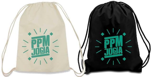 Jasa Sablon Tas Serut String Bag Drawstring Bag Lusinan Murah