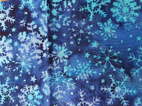 Island Batik snowflake in blue | DevotedQuilter.blogspot.com