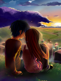 Cute Wallpapers First Initial Letter A Mobi Styles Romantic Couple Mobile Wallpapers 240x320