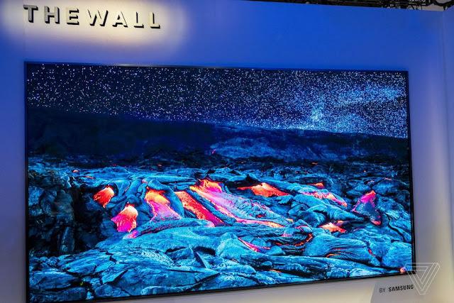 Samsung là hãng công nghệ có mặt ở vị trí thứ 3 với chiếc tivi Thewall có kích thước 146inch