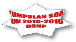Kumpulan Soal UN SMP 2015-2016