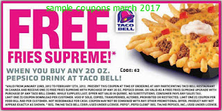 Taco Bell coupons march 2017