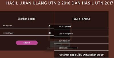 Lulus UTN sertifikasi tahun 2017