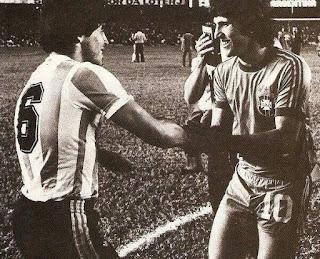 Encontro de Maradona e Zico