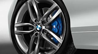 mengunci baut roda Rem berbentuk huruf M biru