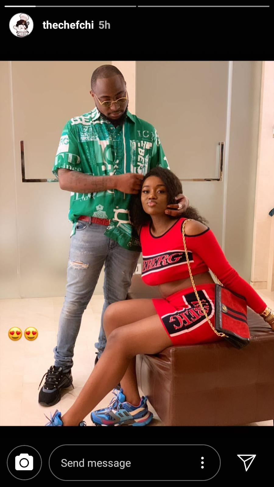 Stella Dimoko Korkus com: Nigerian Crooner Davido And 'Wife