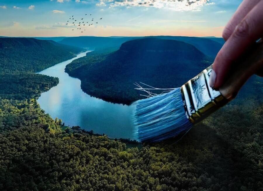 04-River-Blue-Eduardo-Valdés-Hevia-Digital-Art-www-designstack-co