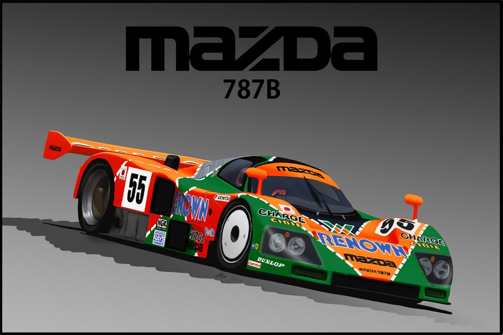 Mazda 787b Drawing