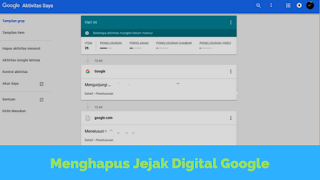 Seberapa kerapkah anda menelusuri informasi Tutorial Hapus Jejak Digital di Google Terbaru