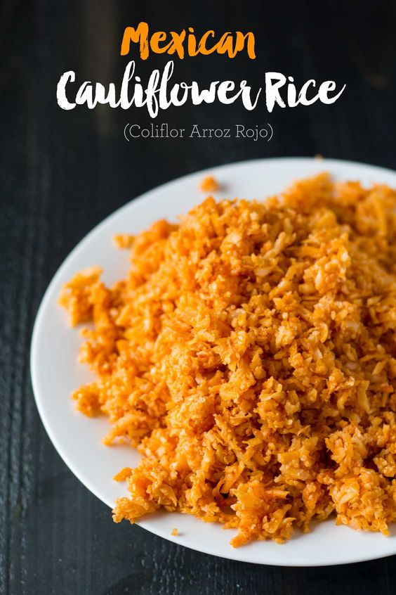 You can make this Mexican Cauliflower Rice in only 15 minutes with just 5 ingredients! A wonderful low-carb alternative to the classic side dish.